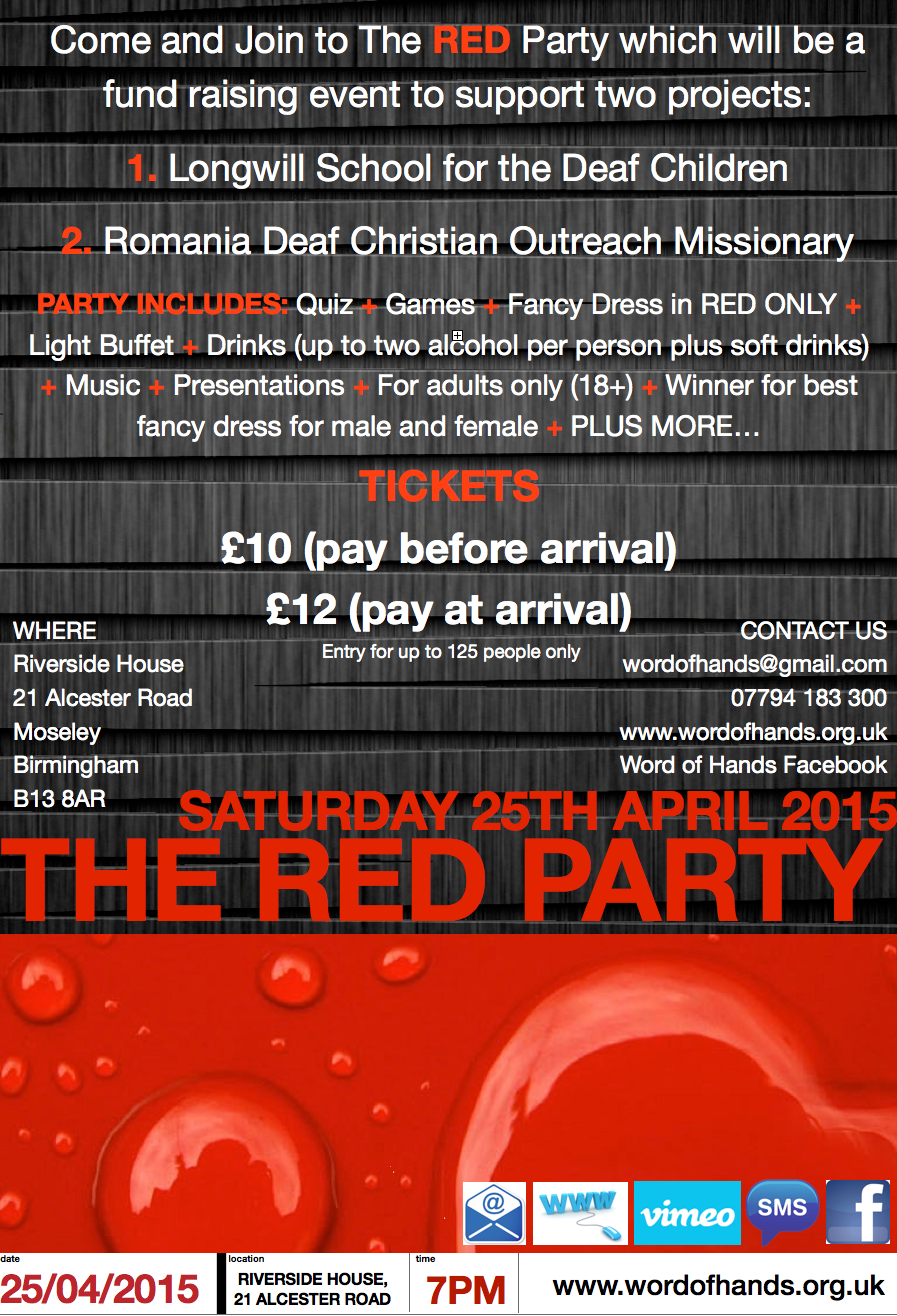 The RED Party 2015 POSTER