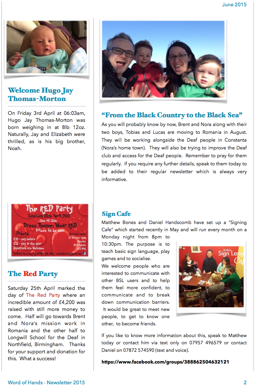 WOH Newsletter Page 2